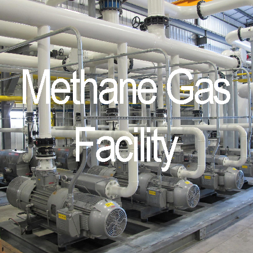 Methane Gas Facilities, a market that will benefit from Blue Box Technology's Solutions